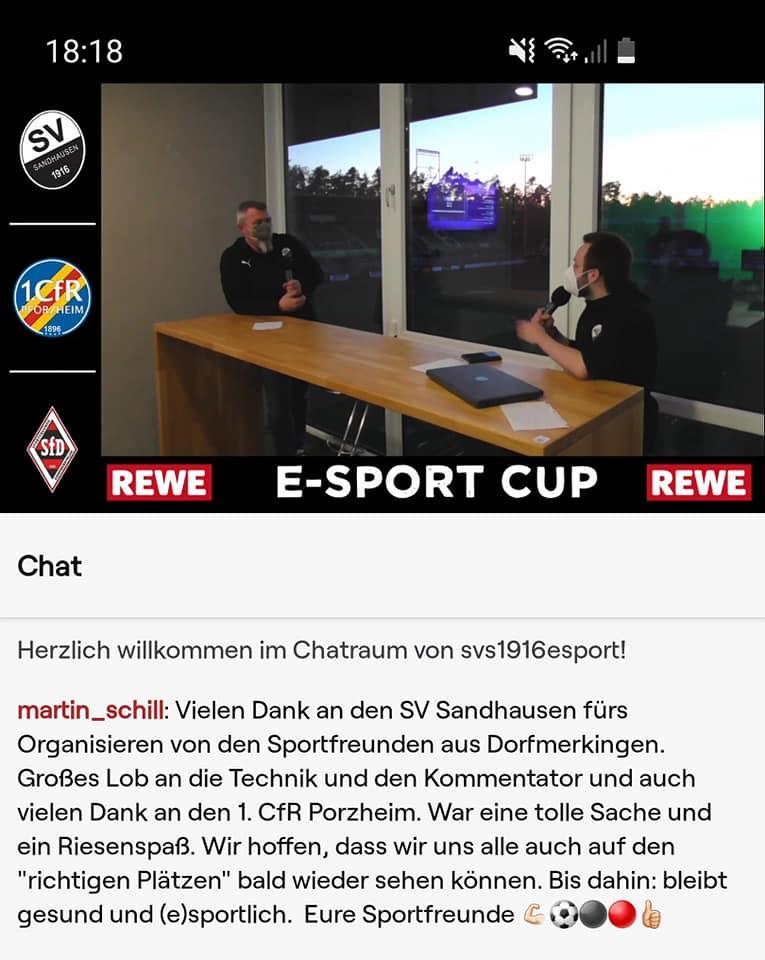 eSport-Cup des SV Sandhausen ein voller Erfolg