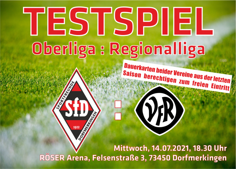 Testpielkracher in der RÖSER Arena am 14.07.2021